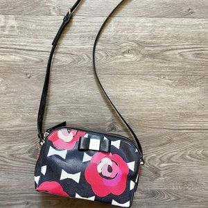 Kate Spade Double Zip Floral Crossbody